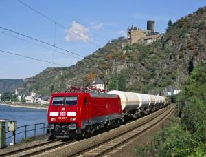 Güterzug in St. Goarshausen