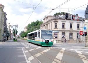 Vogtlandbahn als TrainTram in Zwickau