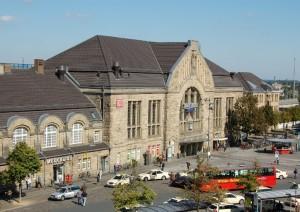 Am Bielefelder Hauptbahnhof soll der Bus starten