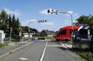 Bahnübergang in Schleswig-Holstein