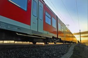 S-Bahn Hannover im Sonnenuntergang
