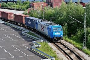 Containerzug in Ingolstadt