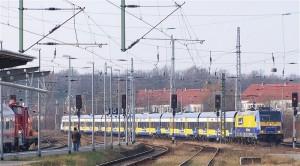 InterConnex bei der Einfahrt in Rostock