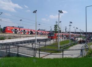 S-Bahnhof Stuttgart Gottlieb Daimler Stadion