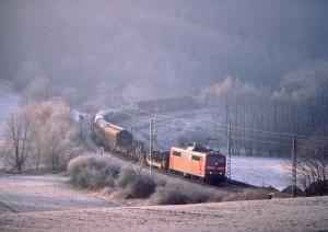Güterzug in Hessen