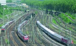 Gleisvorfeld am Stuttgarter Hauptbahnhof