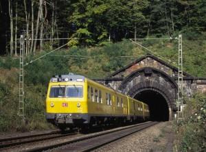 Gleismesszug am (alten) Schlüchterner Tunnel