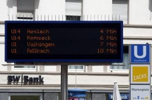 Fahrplaninformationen in Echtzeit - bald auch online