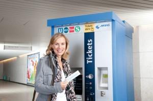 Neue Fahrscheinautomat in München