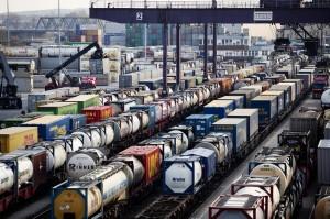 Wartende Güterzüge