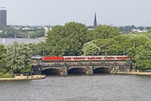 Regionalzug in Hamburg