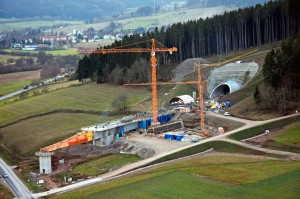 Bauarbeiten an der Ilmtalbrücke