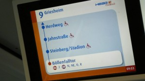 Fahrgastinformationssystem bei HEAG mobilo