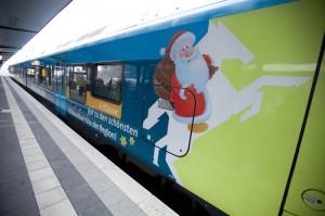 Der Weihnachtsmann auf der Westfalenbahn