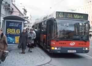 Linienbus in Wien