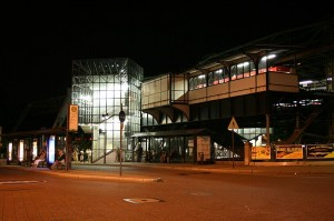 Schwebebahn-Endhaltestelle in Oberbarmen