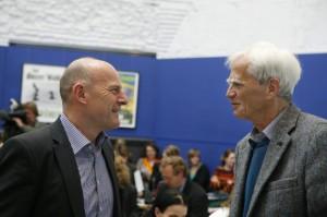 Winfried Hermann (l.) mit Hans-Christian Ströbele