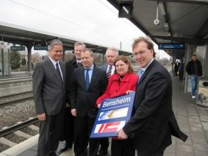 Einweihung Bahnhof Bensheim