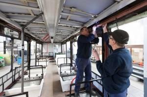 Umbauwagen der Stadtwerke Bonn
