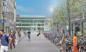 So soll er einmal aussehen: Der Hauptbahnhof in Münster