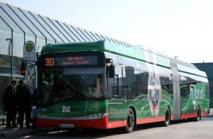 Hybridbus der Bogestra am Gelsenkirchener Hauptbahnhof