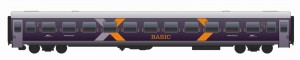 Das Außendesign der Wagen des Hamburg-Köln-Express